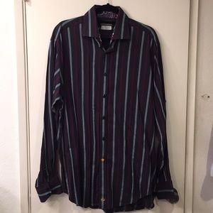 60020045fd Thomas Dean Shirts - Men's Thomas Dean long sleeve button down shirt